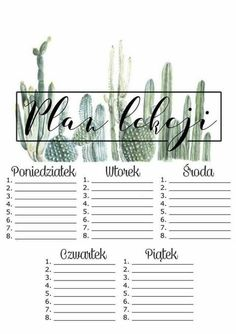 Best Indoor Garden Ideas for 2020 - Modern Blog Planner, Planner Pages, Weekly Planner, Weekly Agenda, Bujo, School Timetable, Organization Bullet Journal, School Planner, Back 2 School