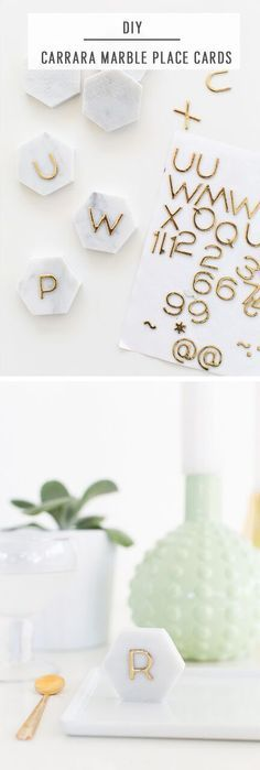 This perfectly simple and super budget friendly DIY for marble place cards will really impress this holiday season, trust me!