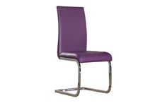 Modern Perth Purple Faux Leather And Chrome Dining Chair