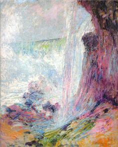 """""""John Henry Twachtman - """"Niagara Falls"""", 1894."""" Use this to be with beauty. Breathe it in, hold it in your mind; breathe out and say """"Thank you."""""""