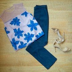 Spring floral and navy