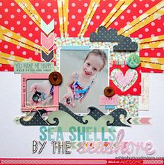 Project Ideas for American Crafts - Dear Lizzy Lucky Charm Collection - 12 x 12 Double Sided Paper - Wild Hearts