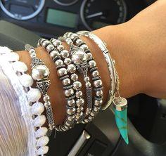 Mic de pulseiras de pratas