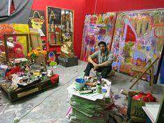 Leonard Johansson in his studio