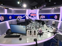 RadioToday took time out to visit the new studios of Capital FM in Leicester Square, London, and Managing Editor Roy Martin tells you what he thinks. Video Studio, News Studio, Home Studio, On Air Radio, Tv On The Radio, Capital Radio, Project Place, Menorah, Cool New Gadgets