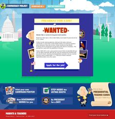 "PBS Kids President for a Day: ""Wanted: Man or woman for top government position.    Must have been born in the United States, be at least 35 years old and be a U.S. citizen."" [website pin courtesy http://pinstamatic.com]"