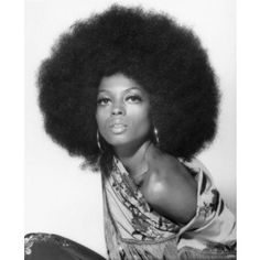 Diana Ross Serving Classic Hoops and Le Afro Supreme in 1970