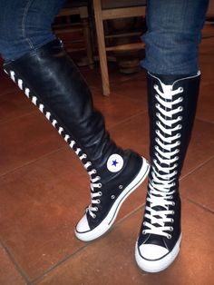 b8a497f6f40d7a Pin by Jimmy Austin on Knee High Converse Boots High Top Shoes ...