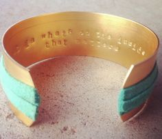 """""""It's what's on the inside that matters"""" bracelet"""