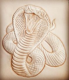Leather Stamps, Leather Art, Leather Tooling, Cobra Tattoo, Dremel Wood Carving, Leather Working Patterns, Plaster Art, Wood Carving Designs, Leather Carving