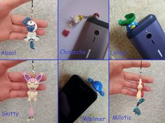 Pokemon Figure Absol Chimecho Lotad Skitty Wailmer Milotic Polymer Clay  #pokemon #milotic #skitty #chimecho #absol #lotad #wailmer #polymerclay #claycrafts #kawaii #cute Polymer Clay Figures, Polymer Clay Charms, Clay Pokemon, Dust Plug, Clay Crafts, Plugs, Kawaii, Charmed, Messages