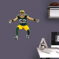Clay Matthews Sack Celebration - Fathead Jr. Wall Decal
