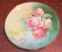 Vintage RS Prussia Plate Roses | eBay