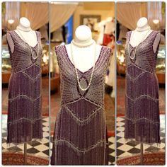 Purple 1920s Style Flapper Dress