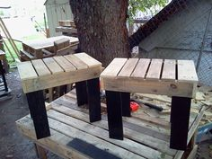 DIY Pallets Rustic Benches