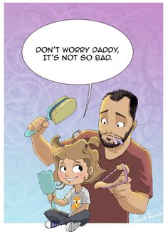 Heartwarming comics show how one dad feels about raising his little girl.