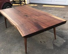 Stay Unique by WoodWorksbyJared on Etsy Stay Unique by WoodWorksbyJared on Etsy All Wood Furniture, Custom Furniture, Furniture Plans, Live Edge Table, Live Edge Wood, Live Edge Shelves, Pecan Wood, Wood Table Design, Walnut Burl