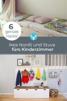Ikea Hack: Pimp the nursery with Nordli and Stuva - 6 brilliant Ikea hacks for Ikea Nordli and Ikea Stuva in the children& room! Ikea Kids Chairs, Ikea Kids Desk, Ikea Kids Playroom, Ikea Hack Kids, Ikea Hacks, Diy Crafts To Sell, Crafts For Kids, Sell Diy, Kids Diy