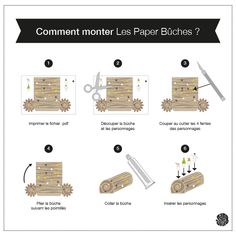 Les Paper Bûches de Noël (free printable)