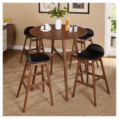 Target Marketing Sys Dining Table Set Black