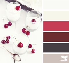 This Red Dessert Colour Palette from Design Seeds would look great in a red kitchen. Colour Schemes, Color Combos, Color Patterns, Color Charts, Color Palate, Design Seeds, World Of Color, Color Swatches, Color Theory
