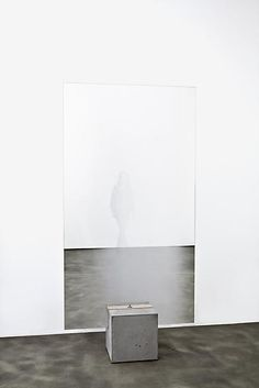 Olafur Eliasson Your fading you 2013 partially silvered glass, wood, concrete, rubber 87 3/4 x 43 1/4 x 15 inches; 223 x 110 x 38 cm