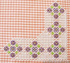 Gingham Lace / Chicken Scratch Embroidery Pattern via Mary Corbet