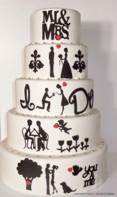 65 τούρτες γάμου που δεν είναι καθόλου συνηθισμένες! | Φτιάξτο μόνος σου - Κατασκευές DIY - Do it yourself