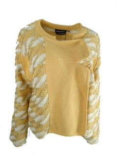 couture4less - SONIA RYKIEL Jacket / Pullover mit Goldfaden Gr. M