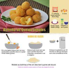 Bolinho de queijo simples Veja mais em nosso blog: http://dicasdacasa.com/bolinho-de-queijo-simples/