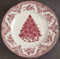 Johnson-Brothers-OLD-BRITAIN-CASTLES-PINK-CHRISTMAS-DinnerPlate- QTY: 8-12, but I expect to collect these over a period of time, not all at once.