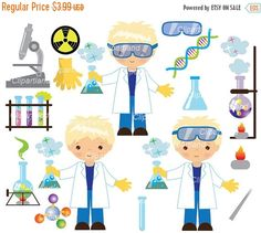 ON SALE INSTANT Download. CChem_7_Chemist_boy. Chemist clip art. Personal and commercial use.