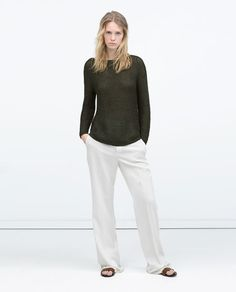 ZARA - NEW THIS WEEK - SWEATER WITH ROUNDED HEM