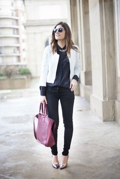 De blanco y negro again. Black and white. Street style outfits. Looks de street style. Fashion Blogger.
