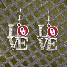 "Oklahoma Sooners ""LOVE"" Earrings"