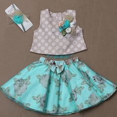 Diy Crafts - casualstyle,headband-The set includes skirt that has elasticated work with net flare and cute bow. The floral print on skirt is enhancing Girls Frock Design, Kids Frocks Design, Baby Frocks Designs, Baby Dress Design, Baby Girl Dress Patterns, Dresses Kids Girl, Frocks For Girls, Kids Outfits, Baby Girl Skirts