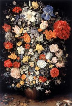 Vase of Flowers with Jewellery, Coins and Shells 1606 Oil on copper, 65 x 45 cm Pinacoteca Ambrosiana, Milan