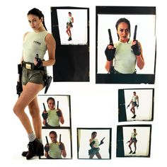 Natalie Cook was the first model to strap on Lara's holsters and stand in for her at events around the United Kingdom. Her first gig was at the European Computer Trade Show in 1996. She hadn't heard of Lara Croft at the time. Few had yet, but that didn't last long. #TombRaider20. Images preserved by Tomb Raider Collection.com.