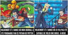 Harry Potter Voldemort, Comic Books, Comics, Illustration, Funny Pictures, Funny Harry Potter, Cult Movies, So Funny, Comic