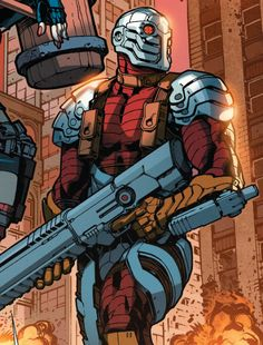 Deadshot (Character) - Comic Vine --- Deadshot is one of the world's greatest assassins, known for his expert marksmanship and near perfect track record. He is one of the core members of the Suicide Squad Deathstroke, Gambit Marvel, Marvel Vs, Héros Dc Comics, Floyd Lawton, Arte Nerd, Hq Dc, Comic Villains, Deadshot