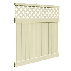 FREEDOM Ready-to-Assemble Freeport Sand Lattice-Top Semi-Privacy Vinyl Fence Panel (Common: 72-in x 6-ft; Actual: 70-in x 5.56-ft)