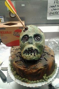 Party Food Themes, Zombie Party, Halloween 2015, Cake, Desserts, Tailgate Desserts, Deserts, Kuchen, Postres