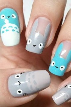 This nod to Totoro: | 25 Ultra Geeky Nail Art Ideas