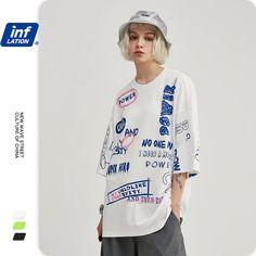 INFLATION Men Funny T shirt With Graffiti Printing Streetwear Tshirt Men Oversized T shirt Hip Hop Boy Tee Shirt Homme 1190S20|T-Shirts| - AliExpress Tee Shirts, Tees, Shirt Vest, Cheap T Shirts, Grafik Design, Apparel Design, Swagg, Shirt Designs, Street Wear