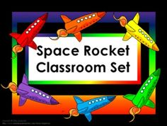 Classroom Set- Rockets - -This set includes the following: -Desk name tags (both regular and primary) -Charts (1 to 100, addition, and multiplication- 2 sizes) -Number lines (0 to 20, 0 to 40 skip counting by 2 and -10 to 10) -Calendar numbers (differences for odd numbers, even numbers, multiple of 3 and multiple of 5) -2 ABC sets -Assortment of tags, labels, pencil toppers, charts, posters, hall passes, directions and more.