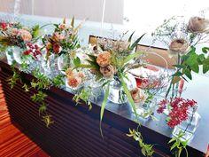Wedding Table Deco, Wedding Guest Table, Table Flowers, Wedding Flowers, Wreaths, Table Decorations, Home Decor, Decoration Home, Room Decor