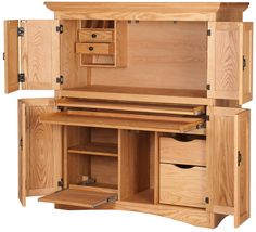 Ordinaire Mission Armoire Desk, Oil U0026 Wax Oak