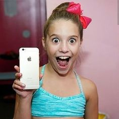 Mackenzie with her iPhone 6!