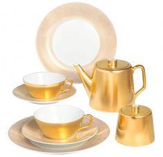 "Tea set, Shape ""MEISSEN® COSMOPOLITAN"", Gold"