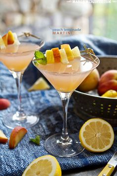 Peach Lemonade Martini | FamilyFreshCooking.com